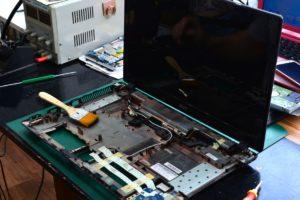 чистка ноутбука с разбором